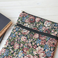 Floral MacBook 13 case, MacBook 11 sleeve, MacBook case, MacBook 12 case, MacBook Pro retina, MacBook 15 case, iPad Pro sleeve, iPad case