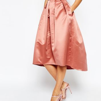 Closet Box Pleat High Low Skirt