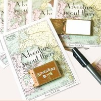 Adventure Book Dry Erase Whiteboard Gold Enamel Pin
