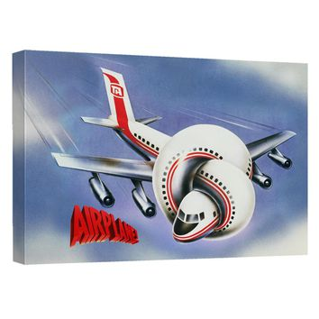Airplane - Poster Canvas Wall Art With Back Board