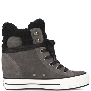 Converse - Chuck Taylor Platform Plus Collar - Charcoal - Hi Top