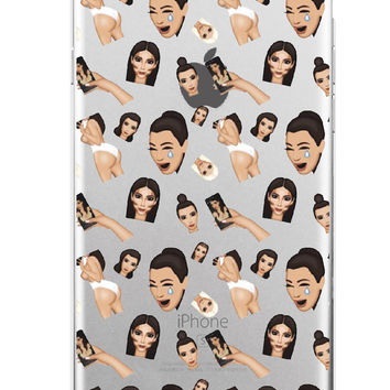 Kimoji Kim Kardashian kanye west north kylie jenner Soft TPU Phone Case Cover Coque For iPhone 7Plus 7 6 6S 5 5S SE 5C 4 4S 4