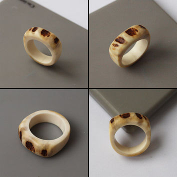 Antler ring, Size 7 US, Antler rings, Antler jewelry, Elk antler, Moose antler, Women ring, Bone ring, Bone jewelry, Unusual ring, Rings