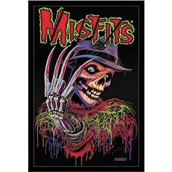 Misfits Iron-On Patch Freddy Krueger Nightmare Logo