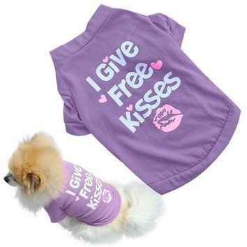 DCCKU7Q dog clothes for small dogs winter puppy chihuahua Summer Shirt Small Dog Cat Pet Clothes Vest T Shirt roupa para cachorro