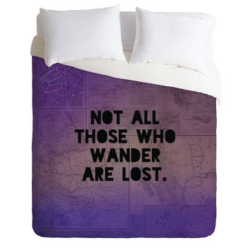 Leah Flores Those Who Wander Duvet Cover