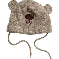 H&M - Knit Cap - Dark brown - Kids