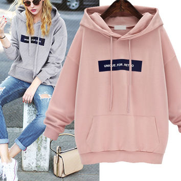 Fashion   Loose  Long sleeve Set head Sweater