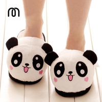 Millffy plush panda animal slippers lovely plush toy slipper plush funny slippers plush indoor panda slipper