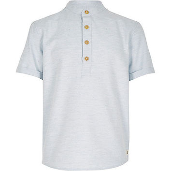 River Island Boys light blue overhead shirt