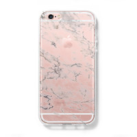 Marble Print iPhone 6 Case iPhone 6s Plus Case Galaxy S6 Edge Clear Hard Case C157