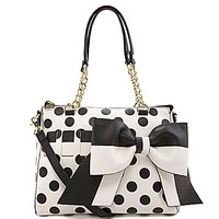 Betsey Johnson Gift Me Baby Polka Dot Convertible Satchel | Dillards.com