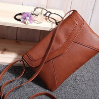 Fashion Small Leather Envelope Bags Women's Messenger Bag Shoulder Crossbody Bag Vintage Clutch Bag satchels = 1932562372