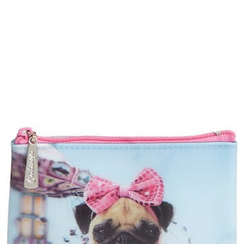 'Small Carnival Pug' Zip Pouch