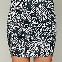 Free People  Neo Tribal High Waist Scrunch Skirt at Free People Clothing Boutique