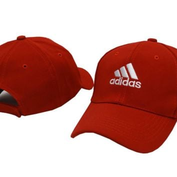 "Fashion ""Adidas�Cotton Red Baseball Cap"