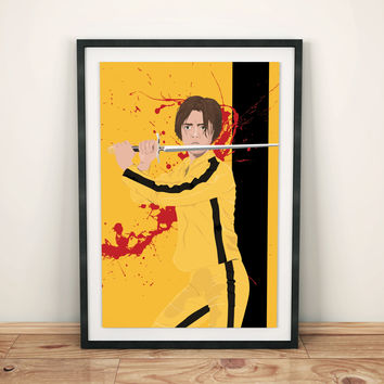Arya Stark as the Bride Mashup Poster Game of Thrones Kill Bill Original Illustration Giclee Print Cotton Canvas Paper Canvas Pop Culture