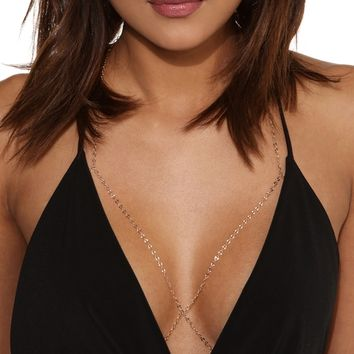 Gold Bralette Body Chain