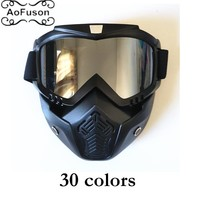 AoFuson Winter skateboard ski goggle snow Windproof eyewear motocross motorcycle skateboard snowmobile women&men mask glasses