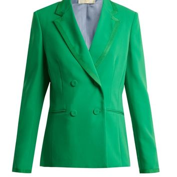 Double-breasted crepe jacket | Sara Battaglia | MATCHESFASHION.COM UK