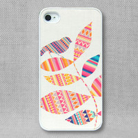 iPhone 4 Case, iPhone Case, iPhone 4S Case, iPhone Case 4/4S - Aztec Bird & Leaves - 136