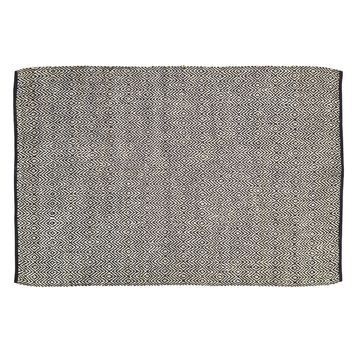 Zuma Black - Jute & Cotton - Handwoven -  72 x 108 - Rug