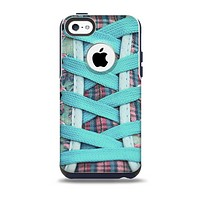 The Turquoise Laced Shoe Skin for the iPhone 5c OtterBox Commuter Case