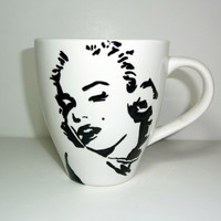 Monroe Inspired Coffee Mug by thepaintinglibra on Etsy