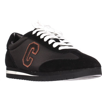 Coach Ian 'C' Logo Fashion Sneakers - Black/Black