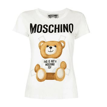 "Hot Sale Moschino ""White Bear"" Suit Fashion Women T Shirt"
