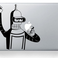bender macbook decal sticker macbook air pro decal by stevendeduk