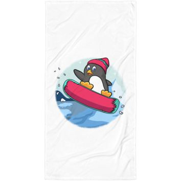 Penguin Towel | Funny Zoo Animal Blanket | The Jazzy Panda