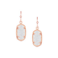 Kendra Scott Lee Earrings Rose Gold In Iridescent Drusy