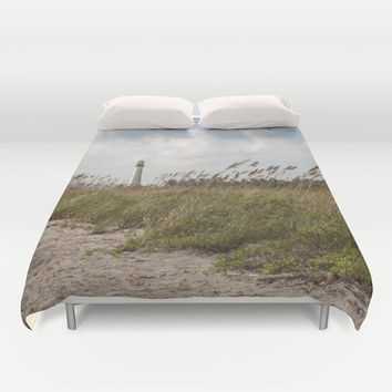 Lighthouse Duvet Cover, Nature Bedding, Beach Theme Bedroom, Dorm Room Decor, Nature Bedroom Decor, 3 sizes, Modern Bedroom Decor