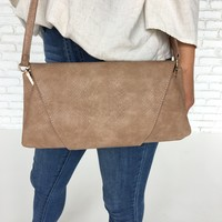 Leah Crossbody in Taupe