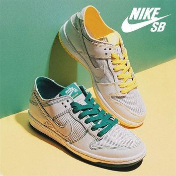 "Nike SB Zoom Dunk Low Pro Decon QS ""Yellow&Green"" Sneaker AR1399-113"