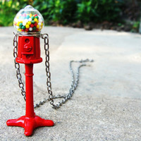Miniatures Necklace Gumball Dispenser Miniature Candy by aptoArt