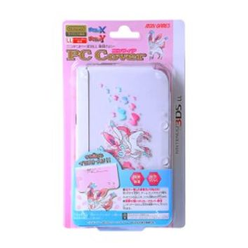 Pokemon 3DS XL XY SYLVEON PC Clear Plastic Cover Case 6th Gen Nintendo