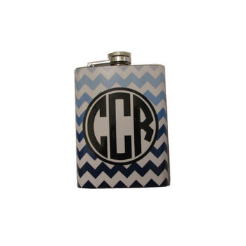 Ombre Chevron Flask by sedroc on Etsy
