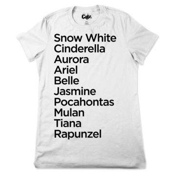 Princess Names Ladies T-Shirt
