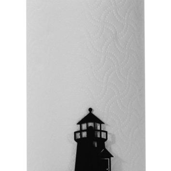 Wrought Iron Lighthouse Table Top Paper Towel Stand