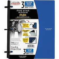 Five Star Flex® Notebook, 3-Subject, College Ruled, Assorted, 8-1/2 x 11