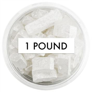 Pearly White Square Gem Sugar 1 LB