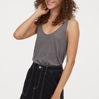 Lyocell Tank Top - Black - Ladies | H&M US
