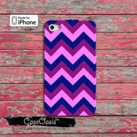Chevron Colorful Purple Pattern Custom iPhone 4 and 4s Case and Custom iPhone 5 and 5s and 5c Case