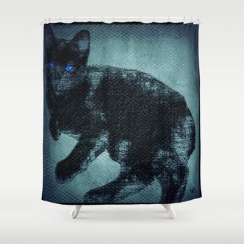 Levi's Tattoo Shower Curtain by Jessica Ivy