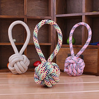 Pet Woven Cotton Rope Ball Cats and Dogs Chew Toys/dogs Knot Toy /pet Toys (Size: M) = 1714243012