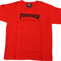 Thrasher Mag Logo Youth Tee X-Small Red