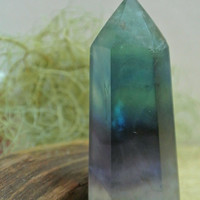 Rainbow Fluorite Point // Standing Point // Crystals and Minerals // Crystal Healing // Wicca Crystals // Chakra Stones // Reiki // Altar