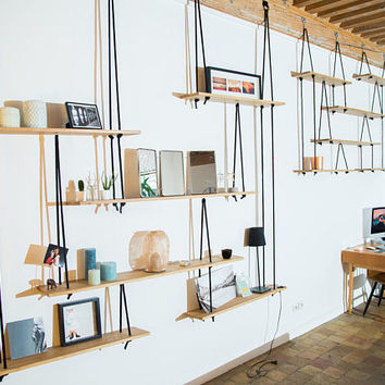 Suspended suspended shelves Hanging shelves-shelf - custom.